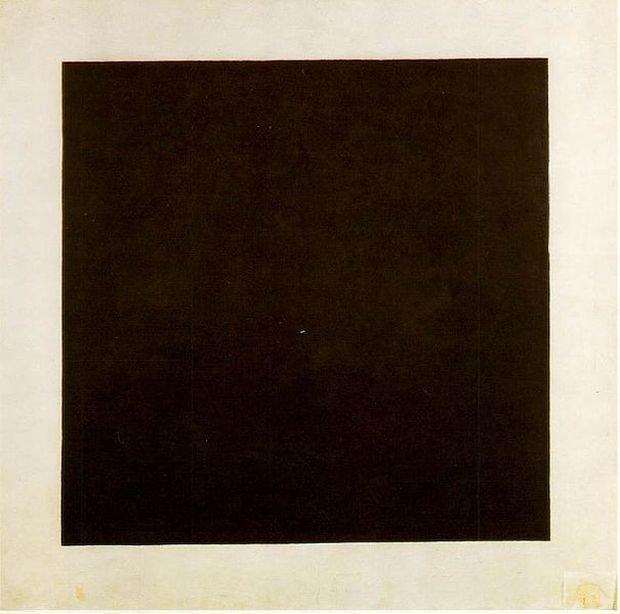 z19181426V,Obraz--Czarny-kwadrat-na-bialym-tle-